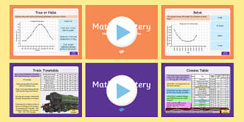 Year 5 Statistics Maths Mastery Activities Resource Pack