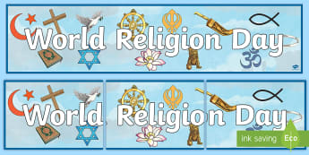 World Religion Day Banner - Faith, Celebration, tolerance, Christianity, RME, Come and See,Scottish