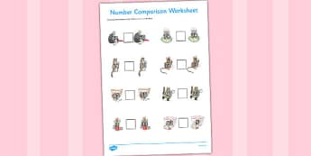 The Tailor of Gloucester Number Comparison Worksheets