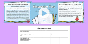 Discussion Text Read, Record and Present Information Lesson Pack - deliver presentations, plan, ACELY1700, reading, comprehension, audience, purpose, multimodal, text  - deliver presentations, plan, ACELY1700, reading, comprehension, audience, purpos