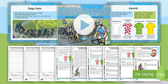 KS2 Tour de France Writing Activity Pack - cycling, race, determination, pE, physical education.