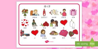 情人节主题词汇毯 - 情人节,节日,庆祝,词汇,词汇毯,爱,丘比特