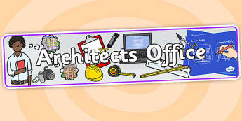 Architects Office Role Play Banner - architects office, architects, role play, banner, role play banner, banner for role play, role play header, header