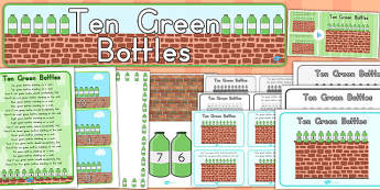 Ten Green Bottles Resource Pack - australia, bottles, pack, ten