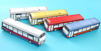 Transport Paper Model Bus - transport, paper, bus, model, craft