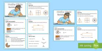 LKS2 Maths Hints Revision Cards - calculations, maths information, strategies, tips for problem solving, mystery maths games
