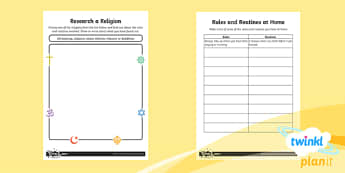 RE: Rules and Routines Year 2 Home Learning Tasks