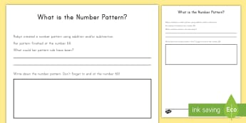 Number Pattern Rule Open Ended Activity Sheet - open-ended, number pattern, rule, activity sheet, worksheet