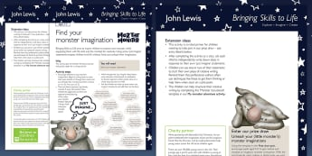 John Lewis Find Your Monster Imagination Lesson Plan - Moz the Monster, John Lewis, Christmas 2017, Christmas, Moz, advert, Imagine, Monster