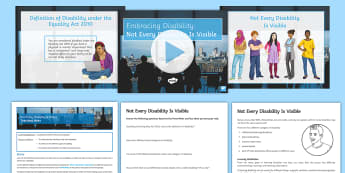 Embracing Disability: 'Not Every Disability Is Visible' Discussion Teaching Ideas - Disability, awareness, disability Awareness, special needs, raising awareness