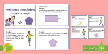 Tarjetas de desafío: Problemas geométricos - geometria, geometría, matematica, matematicas, matemáticas, matemática, formas, gemétrica, geom