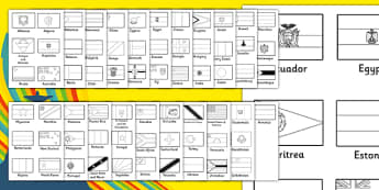 Rio Olympics 2016 Black and White Flag Cut Outs - rio 2016, rio olympics, 2016 olympics, black and white, flag, cut out