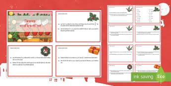वर्ष 4 क्रिसमस मानसिक गणित चुनौती कार्ड - गणित, मानसिक गणित, चुनौतियाँ, क्रिसमस