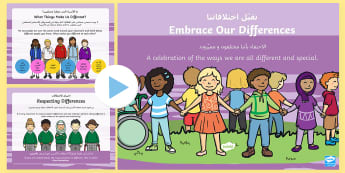 Embrace Our Differences PowerPoint Arabic/English