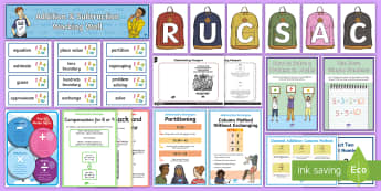 LKS2 Addition and Subtraction Working Wall Display Pack - maths display, classroom display, column methods, written method, problem solving, maths methods exp