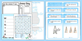 KS2 Snow Day Writing Pack - ks2, snow, writing pack, write, pack