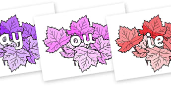 Phase 5 Phonemes on Autumn Leaves (Multicolour) - Phonemes, phoneme, Phase 5, Phase five, Foundation, Literacy, Letters and Sounds, DfES, display