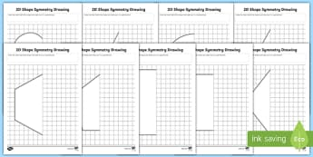 2D Shape Symmetry Drawing Activity
