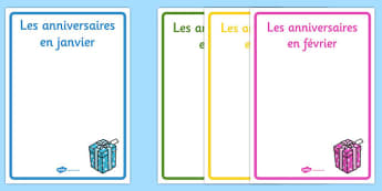 Editable Birthday Display Posters French - french, editable, birthday, display, posters