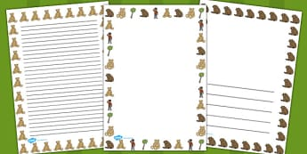 Ive Lost My Teddy Where Is It Page Borders - Where's My Teddy, teddy, woods, forest, lost, bear, page border, border, writing template, writing aid, writing aid, reading, story, story book, story resources