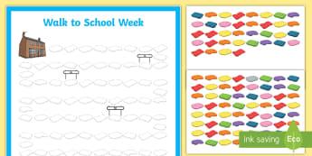 CfE Walk to School Week Chart Record - CfE Walk to School Week 2017 (15th-19th May) JRSO, record chart, walking to school, walking to schoo