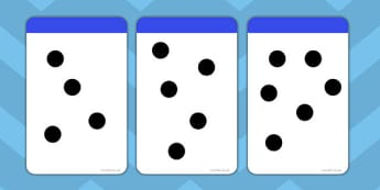 Random Dot Array Flashcards to 10 - flashcards, 10, random, dot