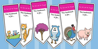 The Owl and The Pussycat Editable Bookmarks - stories, books
