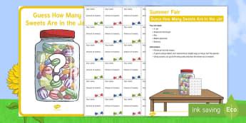 Summer Fair Elderly Care Guess How Many Sweets Are in the Jar Activity - Summer Fair Elderly Care Guess How Many Sweets Are in the Jar Activity  - Elderly, Reminiscence, Car