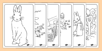 The Tale of Peter Rabbit Coloring Sheets - peter rabbit, colour