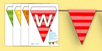 Welcome to Our Class Bunting Multicoloured - welcome, bunting