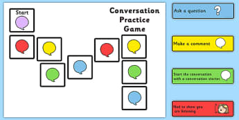 Conversation Practice Game - conversation aid, making friends