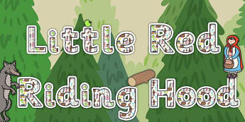 Little Red Riding Hood Title of the Book Display Lettering - book