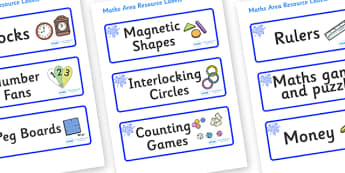Blue Themed Editable Maths Area Resource Labels - Themed maths resource labels, maths area resources, Label template, Resource Label, Name Labels, Editable Labels, Drawer Labels, KS1 Labels, Foundation Labels, Foundation Stage Labels, Teaching Labels