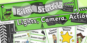Film Studio Role Play Pack-film studio, role play, pack, film studio pack, role play pack, role play materials, film studio activities, pack