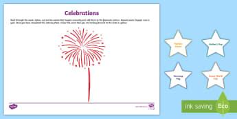 Annual Celebrations Cut and Paste - Celebrations, annual, seasons,Australia