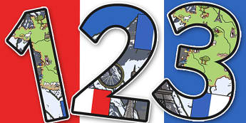 French Themed Display Numbers - French, Themed, Display, Numbers