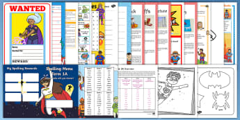 Superhero Year 2 Supply Resource Pack - supply teacher, class management, activities, timetable, cover