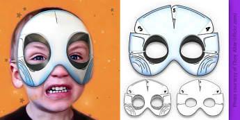 3D Halloween Ghost Monster Mask - 3d, halloween, ghost, monster, mask