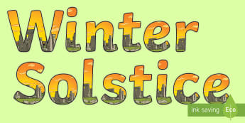 Winter Solstice Display Lettering - druid,pagan, sickle, tradition, celebration,,Scottish