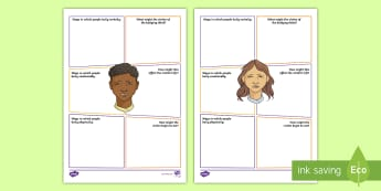 Second Level Anti-Bullying Week Thoughts and Feelings Activity Sheet - Bully, equality, impact, equal, different,,Scottish