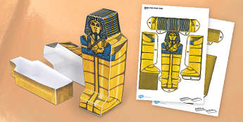 Egyptian Coffin Paper Model - coffin, egypt, paper model, paper