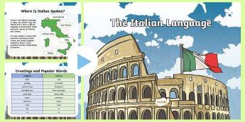 Italian Language PowerPoint - italian, language, powerpoint, eal, languages