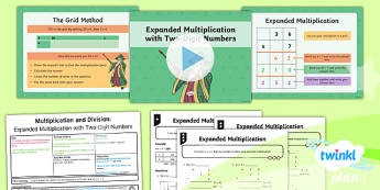 PlanIt Maths Y4 Multiplication and Division Lesson Pack Written Methods Multiplication Expanded Method (1)
