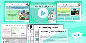 Computing: Kodu Programming: Code Investigator Year 6 Lesson Pack 1