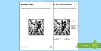The Existence of God and Revelation: Depictions of God Activity Sheet  - schnorr, painting, portrait, chrsitian, imagine