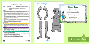 Split Pin Knights Finger Gym Plan and Resource Pack - fine motor, funky finhers, coordination, castles, kings and queens