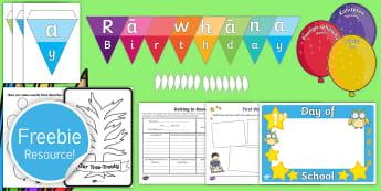 ECE Classroom Set Up  Taster Resource Pack - sample pack, free pack, taster pack, back to school, ECE