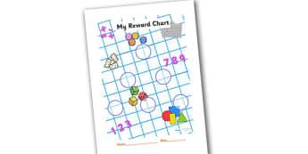 Numeracy Themed Sticker Reward Chart 30mm - reward chart, sticker chart, sticker reward chart, numeracy reward chart, numeracy sticker chart, 30mm chart