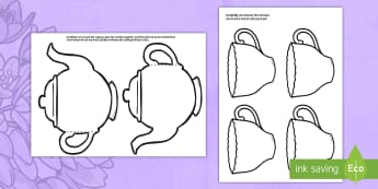 Tea Pot Mother's Day Cards English/Hindi - Mother's Day Card Blank Teapot Card Craft - mothers day, card, blank, teapot, EAL.