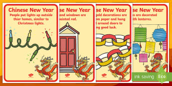 Chinese New Year Celebration Customs Display Posters - Holidays, Chinese New Year, China, Social Studies, Chinese Celebrations, Chinese Holidays
